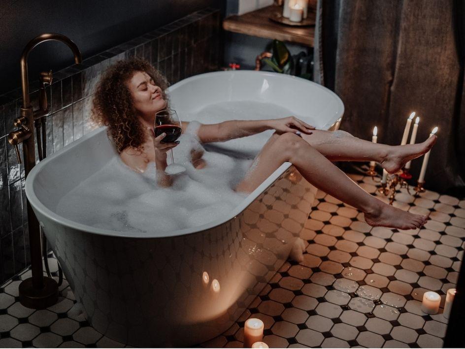 salud emocional baño relajante