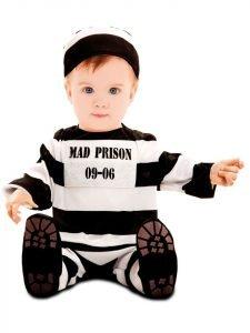 Bebé disfrazado de preso